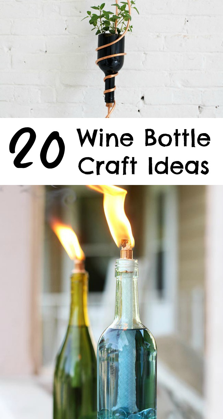 Wine Bottle Crafts Part - 22: 20 Wine Bottle Craft Ideas To Put Your Wine Bottles To Good Use