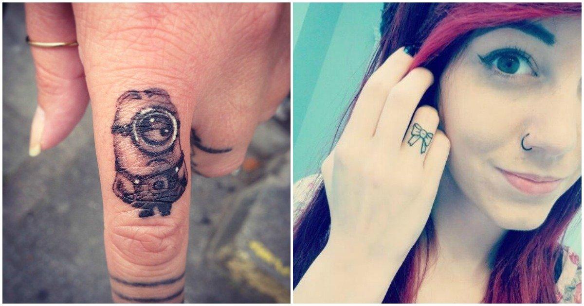 32 Lovely Tiny Finger Tattoos Anyone Would Love Ritely
