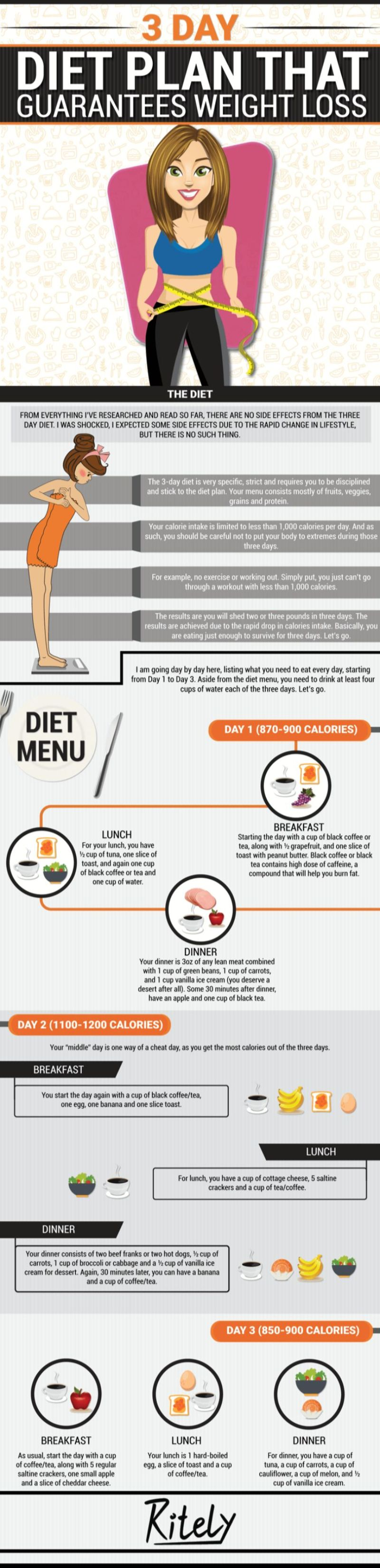 3-Day Diet Plan That Guarantees Weight Loss