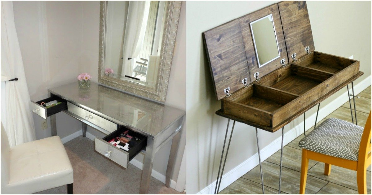 Diy your dream makeup vanity in 16 affordable ways ritely solutioingenieria Image collections
