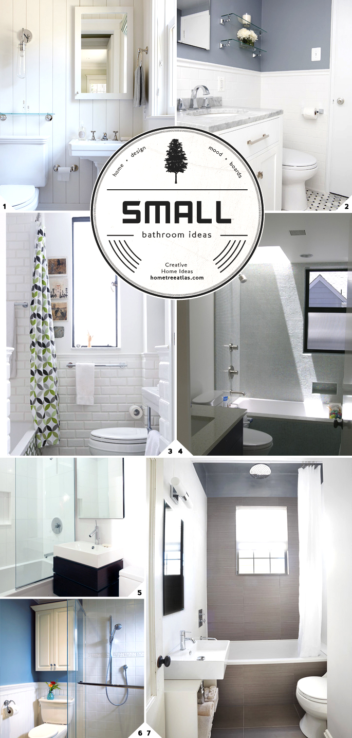 Make small bathroom look bigger