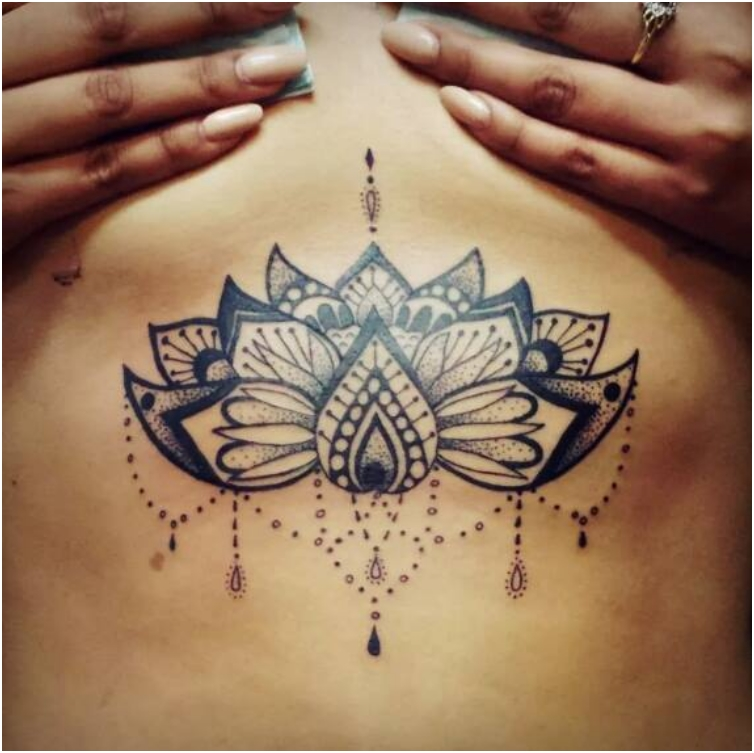 65 Sizzling Under breast Tattoos You'll Drool Over