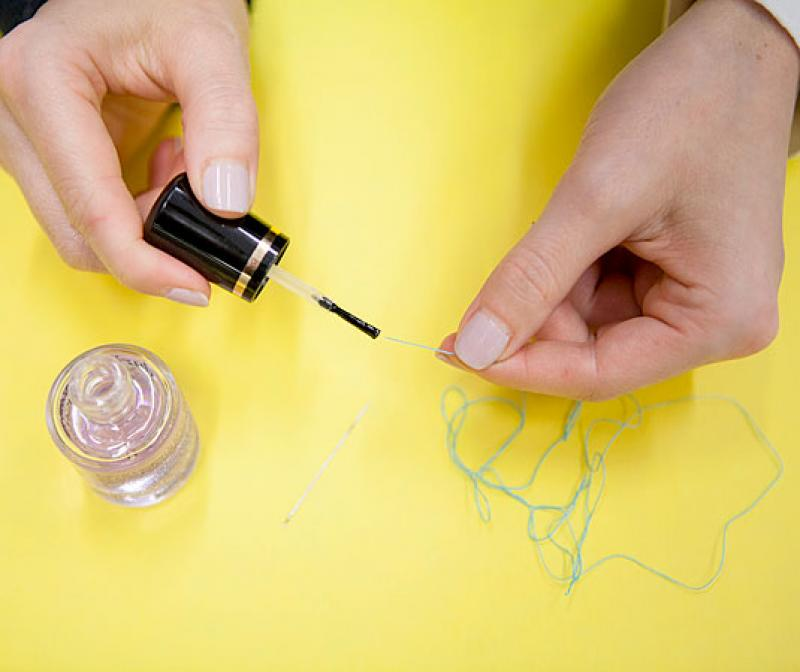 Solve 30 Tiny Problems With A Coat Of Clear Nail Polish