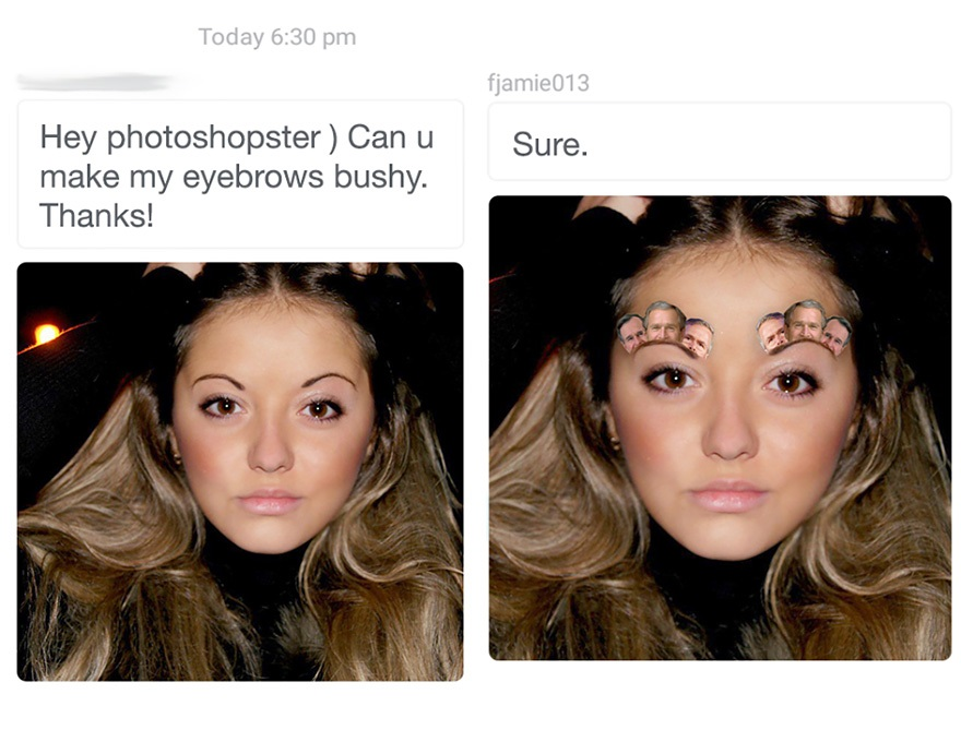 70 Silly Photoshop Requests and the Equally Silly Results