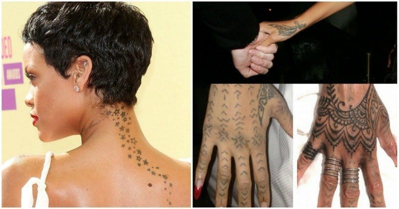 Rihanna Mehndi Tattoo : A guide to rihanna s tattoos her inkings and what they mean