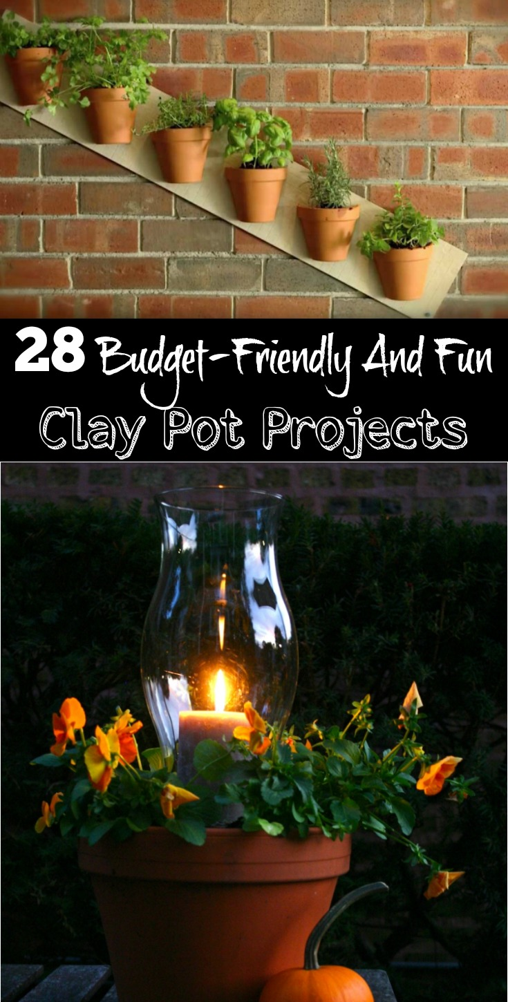 28 Budget-Friendly And Fun Clay Pot Projects