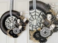 Photo: http://apumpkinandaprincess.com/2015/10/diy-spider-web-halloween-wreath.html