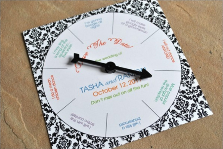 Spinning Wheel Invitation. 30 Creative Ideas To Make Your Own Wedding  Invitations