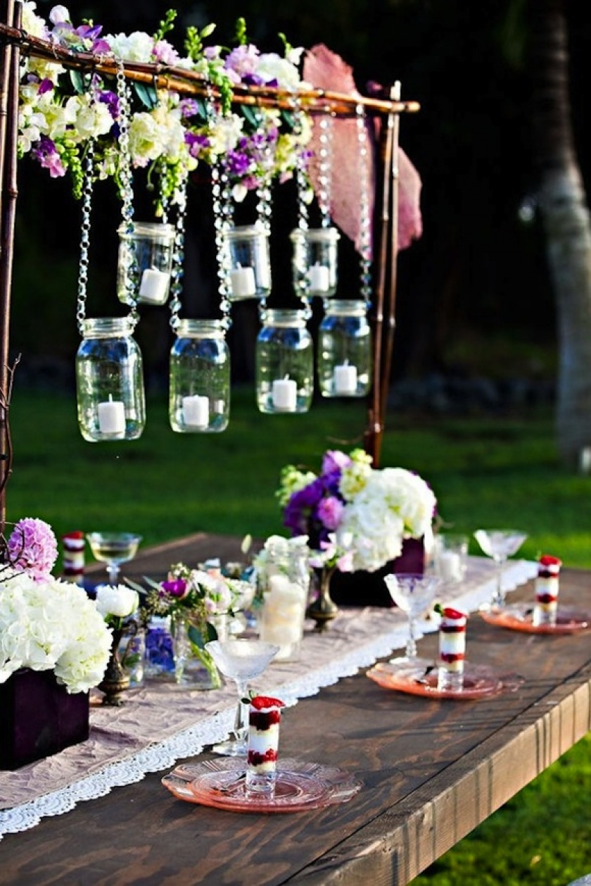 35 Thrifty Mason Jar Centerpieces That Look Simply Amazing - Ritely
