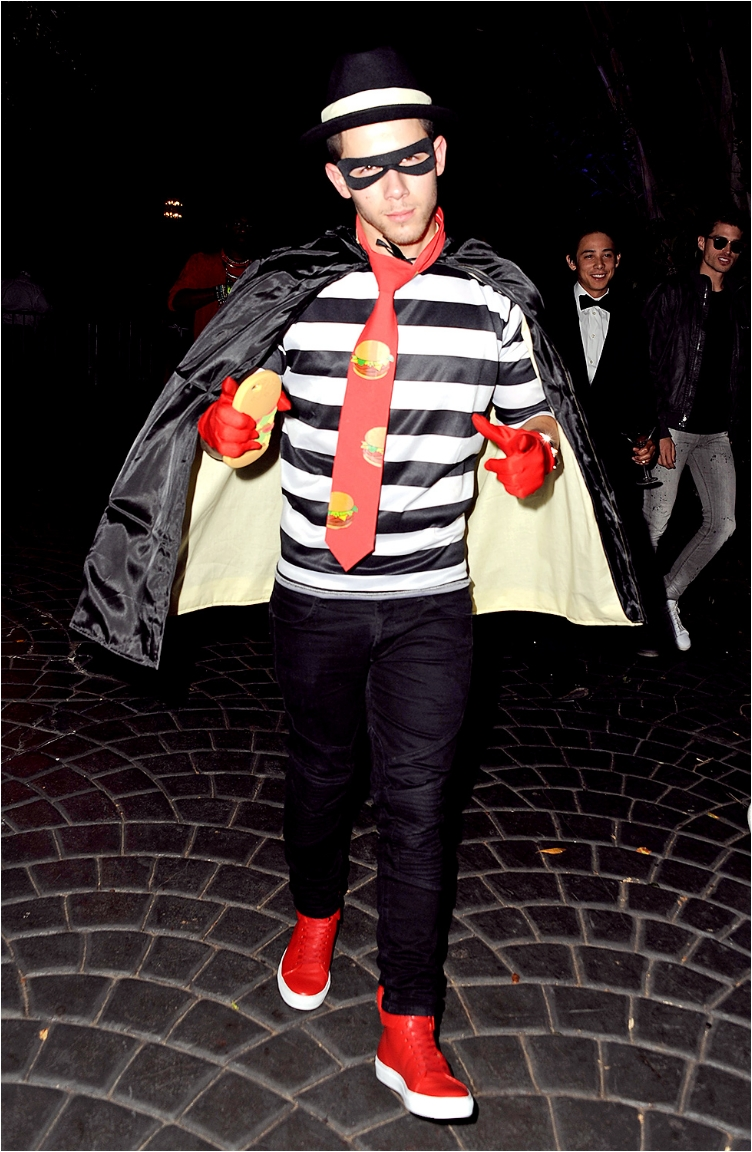 nick jonas as the hamburglar 39 celebs looking scary good in halloween costumes