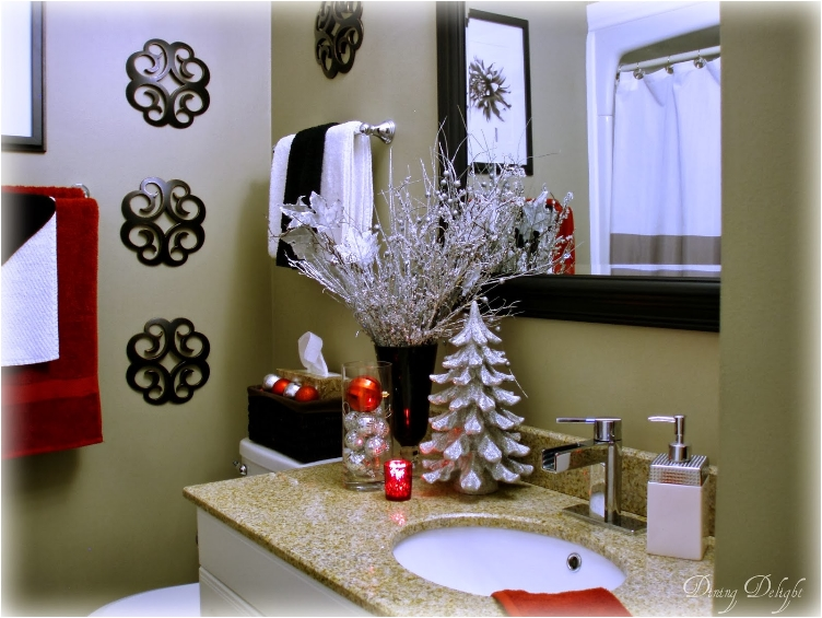 Easy Christmas Bathroom Decor Idea. Add More Holiday Cheer To Your Home  With 29 Easy DIY Projects