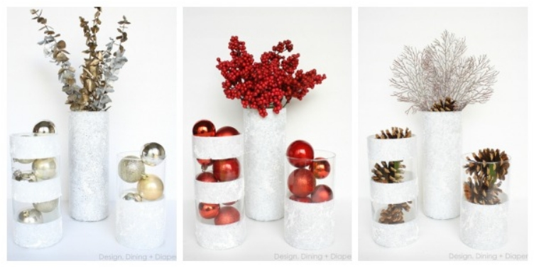 Add more holiday cheer to your home with 29 easy diy for Vase weihnachtlich dekorieren