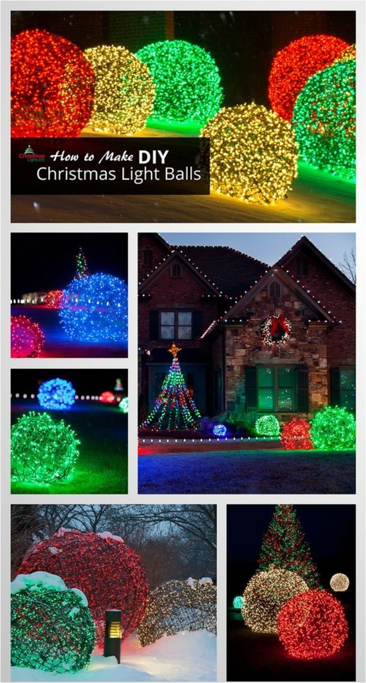 24 festive ideas for outdoor christmas decorations - Diy Lighted Outdoor Christmas Decorations