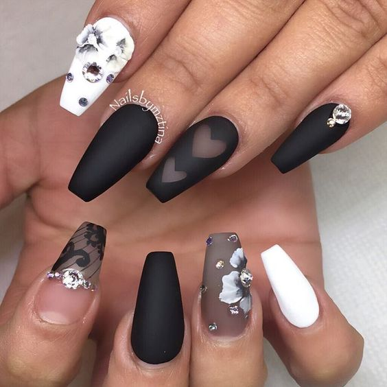 Creepy or Not, Sexy Coffin Nails in 25 Different Ways