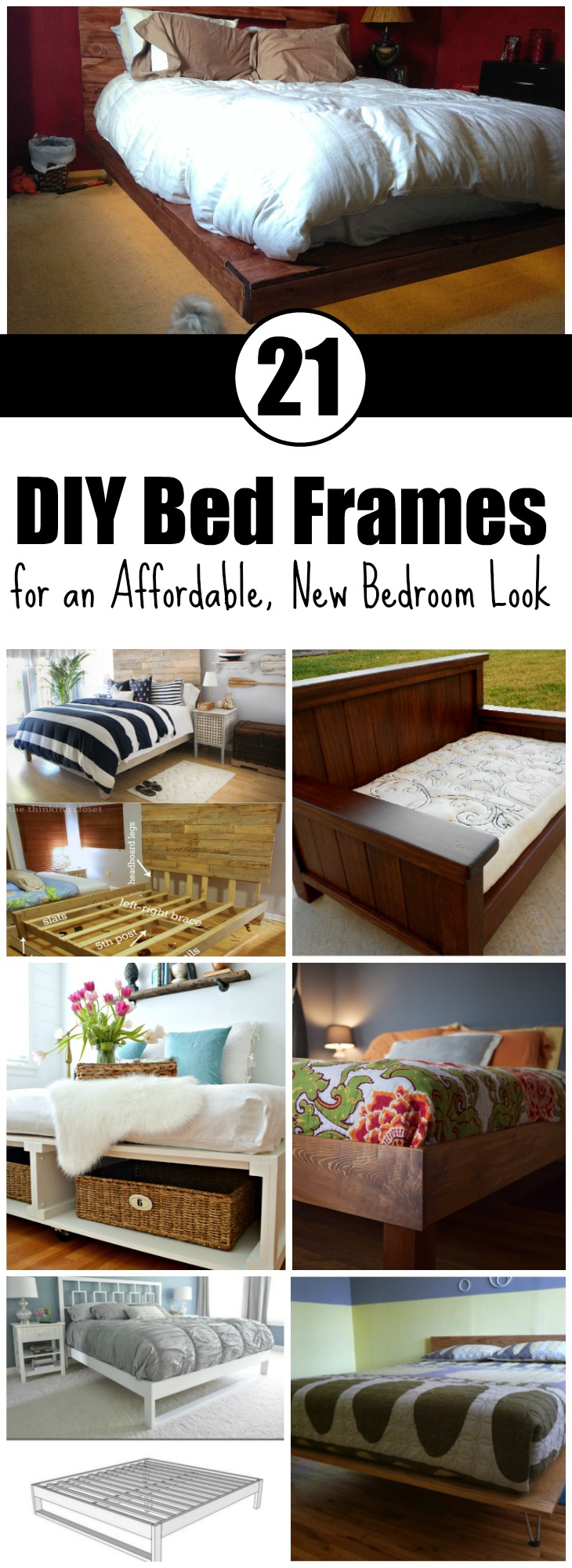 DIY Bed Frames for an Affordable New Bedroom Look