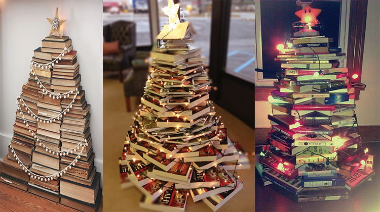 How To Make A Book Tree ~ Add bookish charm to your home with book decor ideas