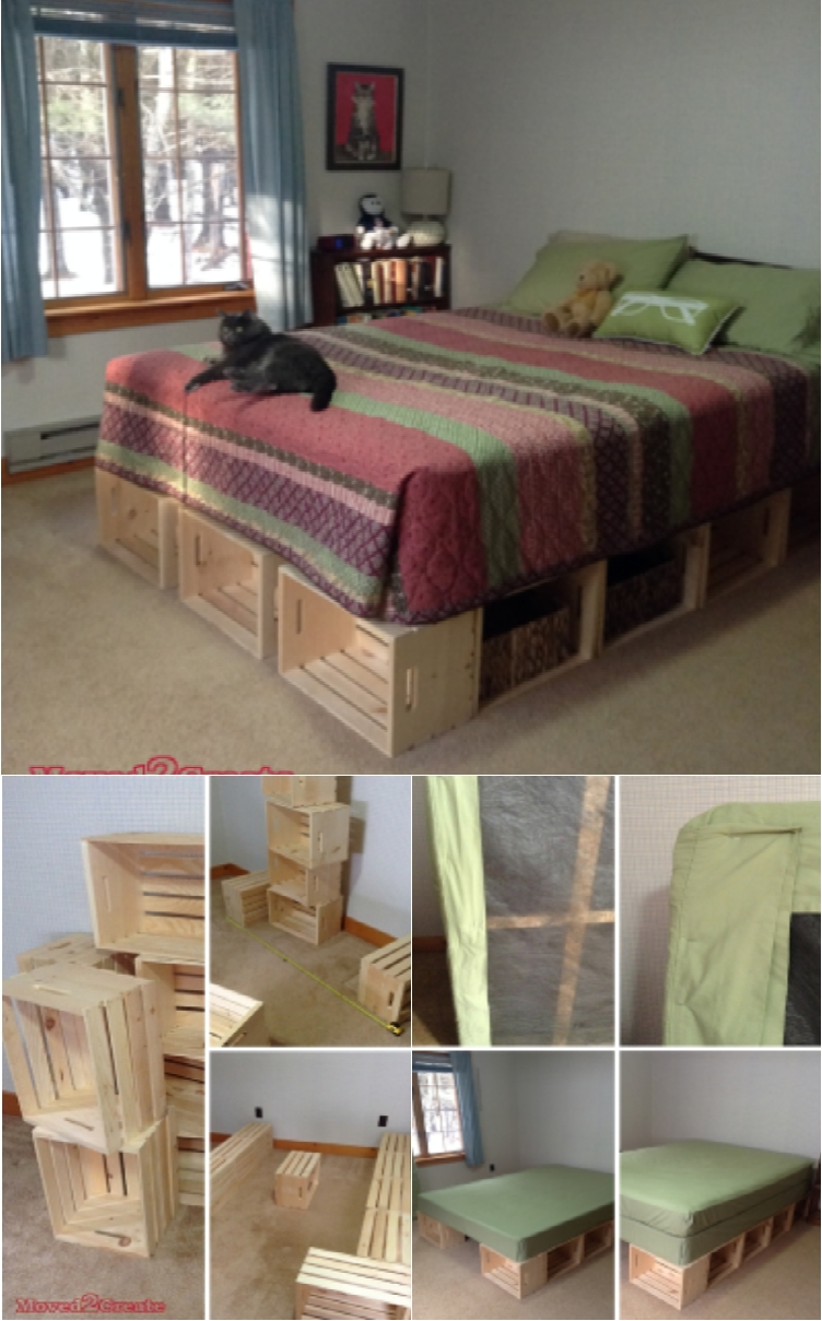 21 diy bed frames for an affordable new bedroom look