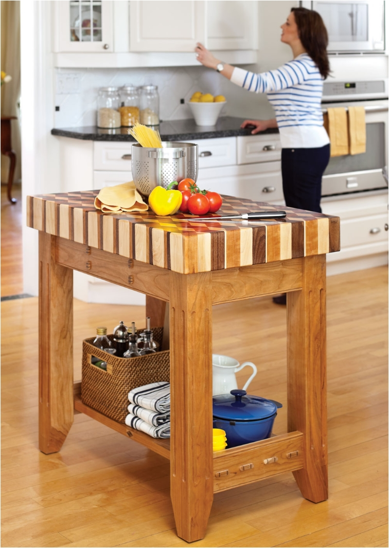 20 diy islands to complete your kitchen ritely - Small butcher block island ...