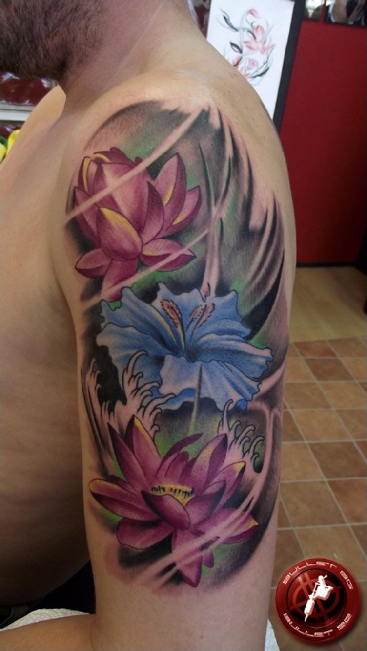 From delicate to rebellious 40 fabulous flower tattoos for Flower tattoo arm