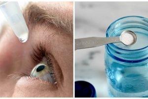 Homemade eye drops