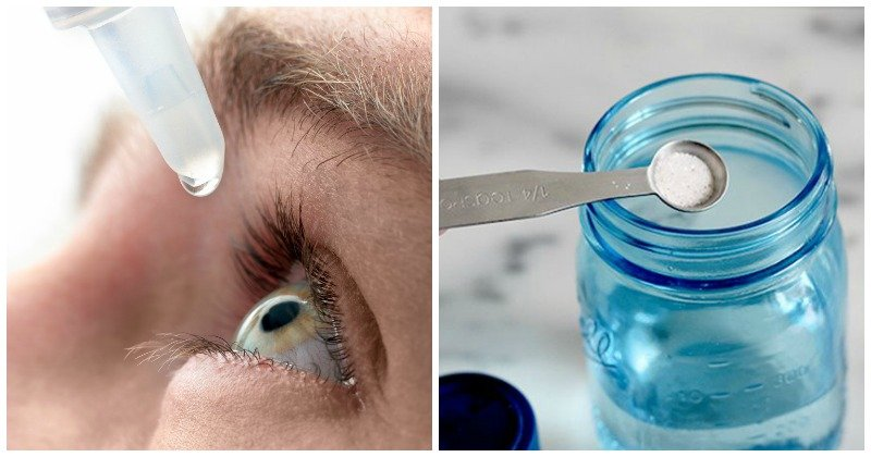 Homemade eye drops
