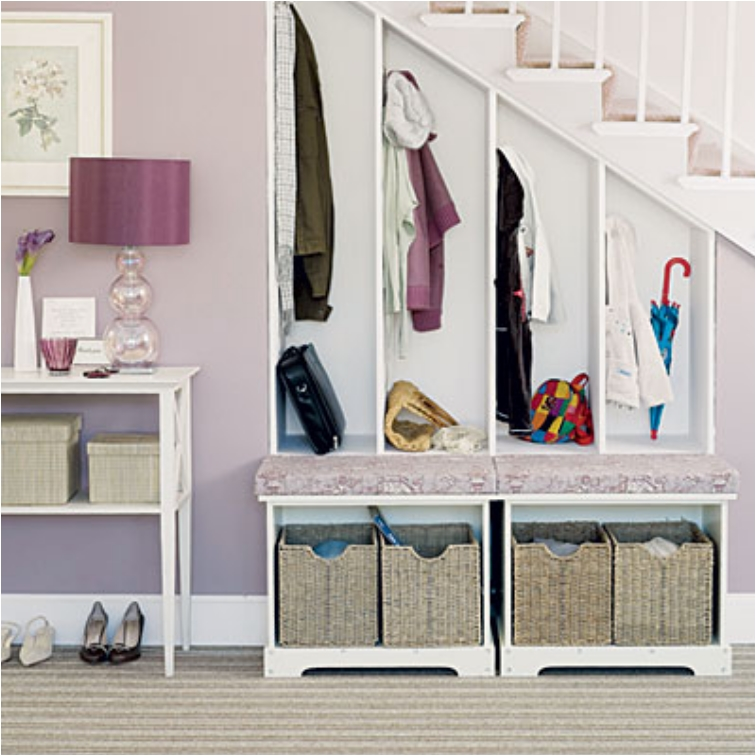 Mudroom Storage Under Stairs : Brilliant ideas for utilizing the space under