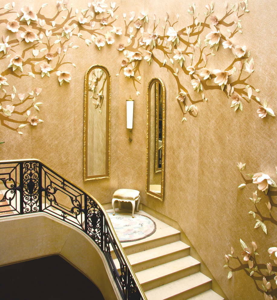 Stair Case Flower Decor