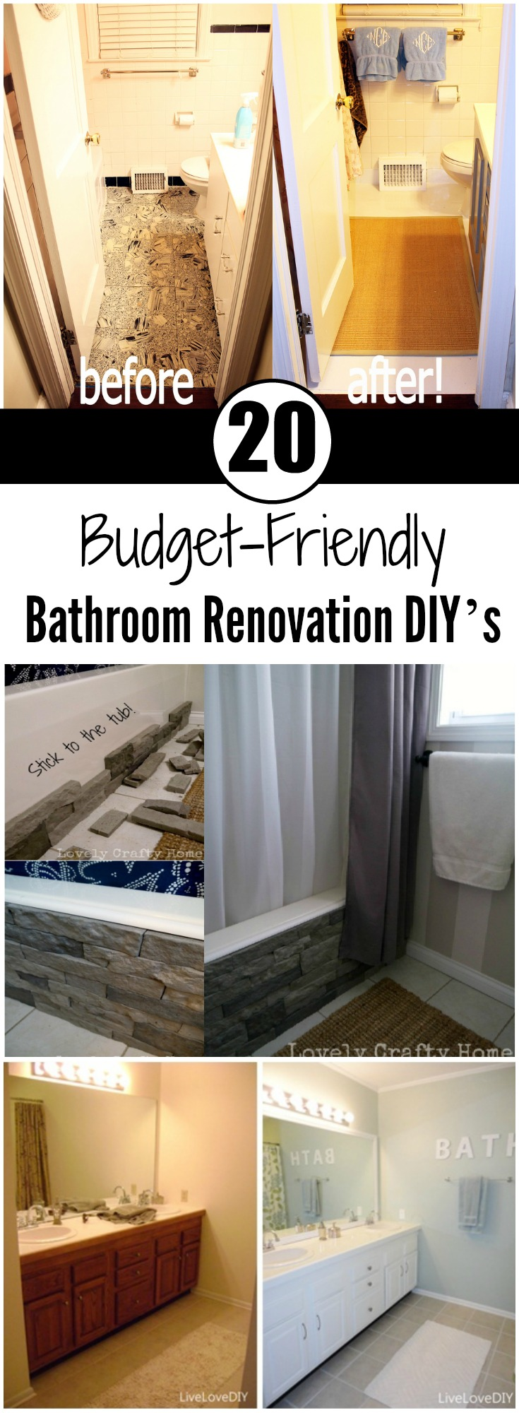 BudgetFriendly Bathroom Renovation DIYs Ritely - Budget friendly bathroom remodels