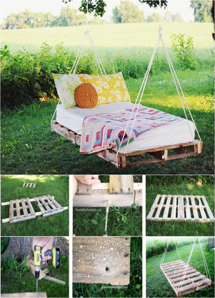 Sleep on Clouds with 13 Marvelous DIY Hanging Beds