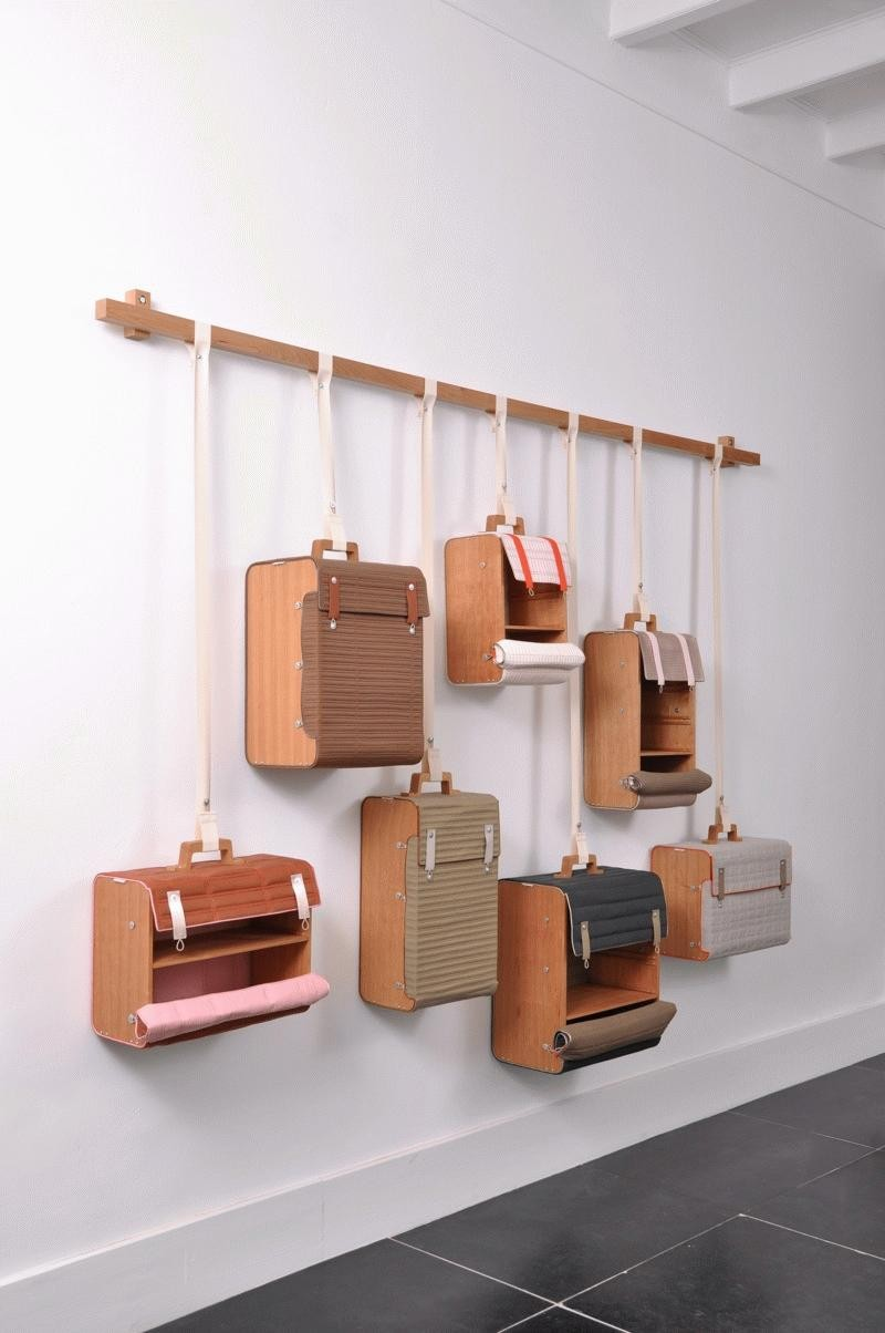 Hanging Suitcase Storage Shelves