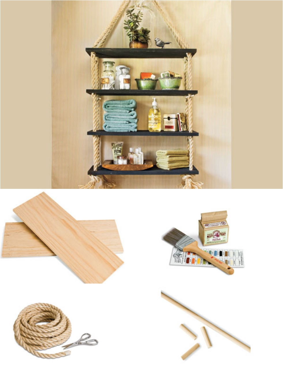 31 DIY Hanging Shelves Perfect for Every Room in Your Home - Ritely