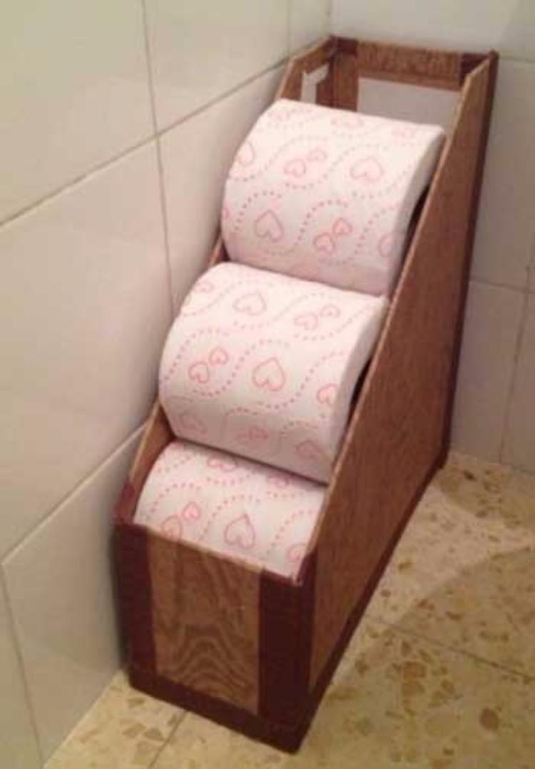 Органайзер для хранения туалетной бумаги своими руками