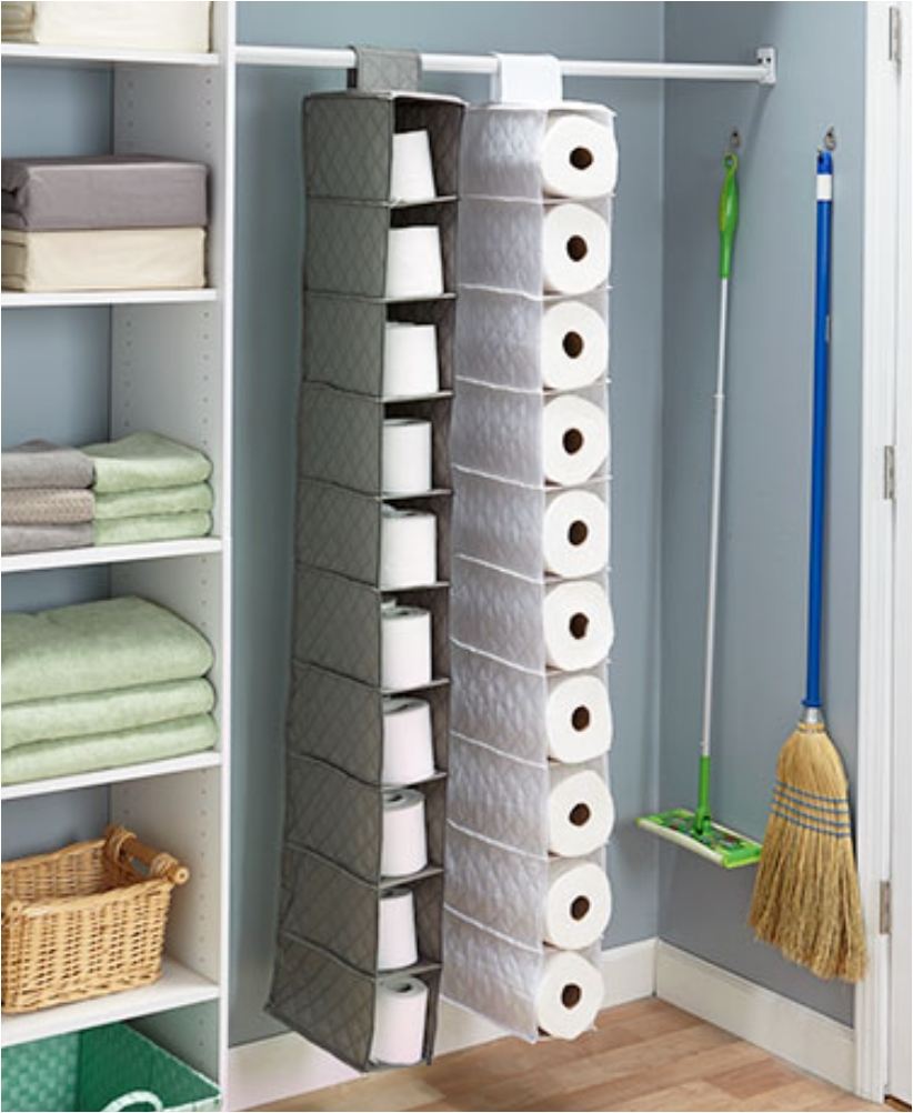 Bon Pocket Hanging Toilet Paper Storage