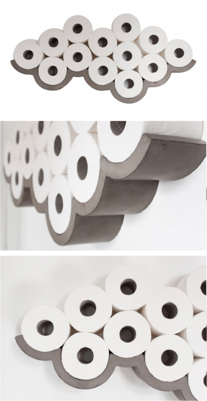 Wooden Toilet Paper Storage Cabinet