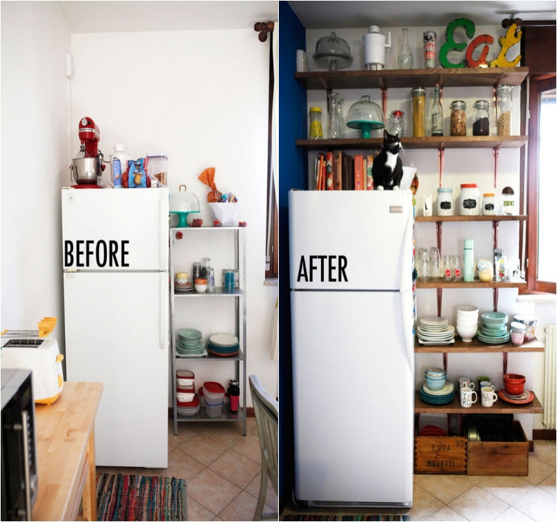 27 tips to organize and enlarge your small kitchen - ritely