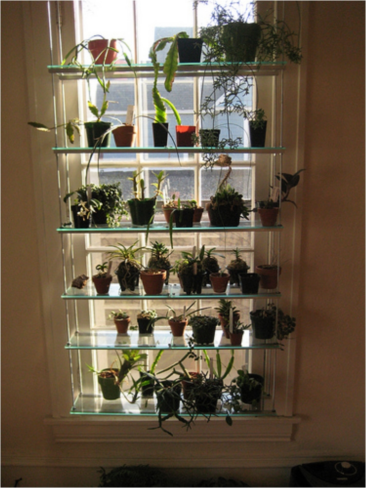 31 diy hanging shelves perfect for every room in your home - How to hang plants in front of windows ...