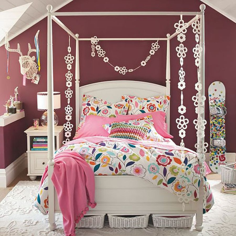 36 awesome teen girl bedroom designs ritely for Best beds for teenager