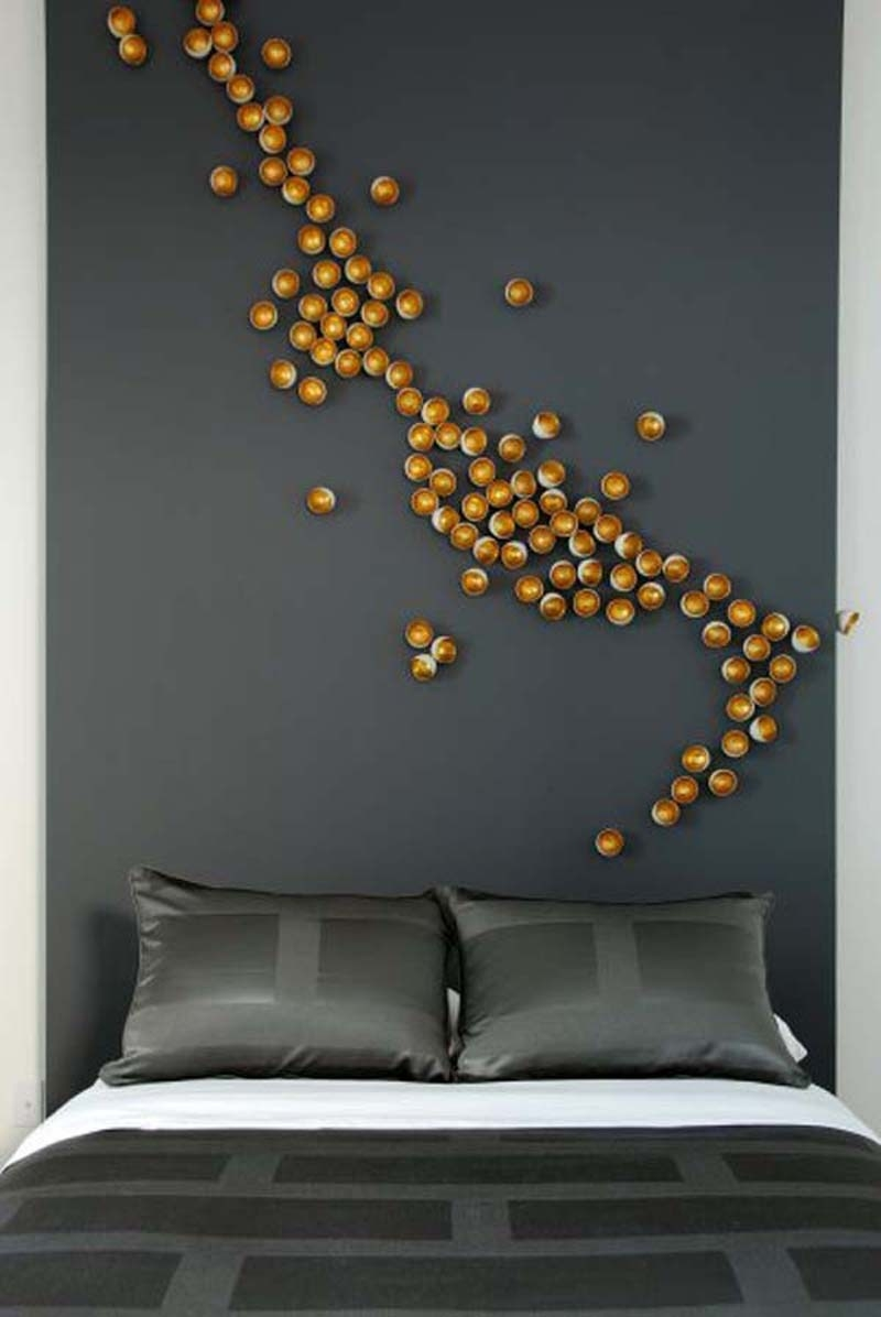 Bedroom wall art designs - Golden Balls Wall Art Design