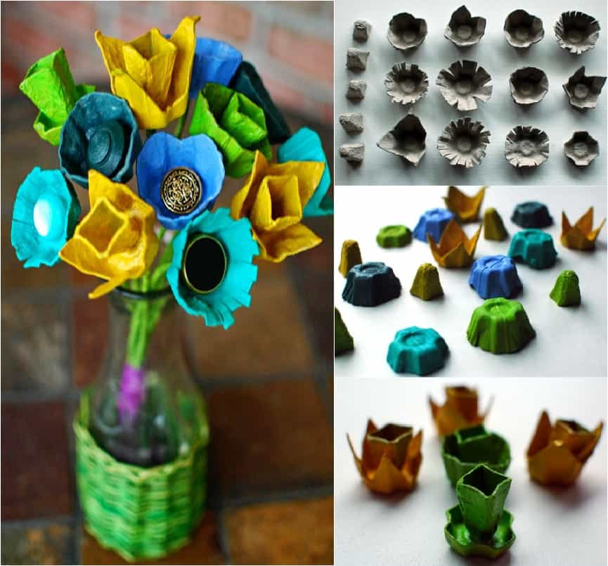 13 Surprisingly Pretty Decorations with Egg Cartons