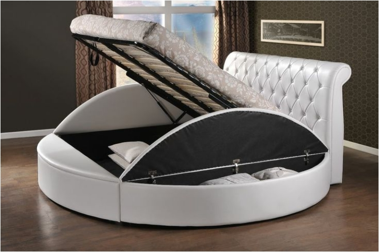 Round bed with storage best storage design 2017 for Round bed design
