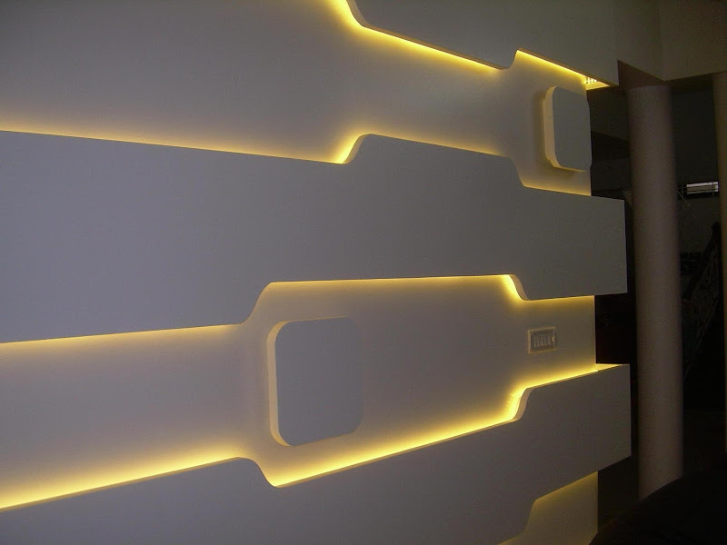 These 26 brilliant led wall mounted lights are a work of for Room decor led lights