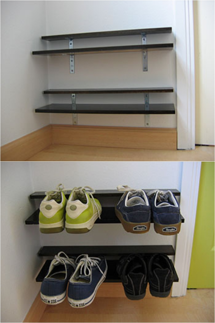 27 Easy DIY's to Organize Your Shoe Collection