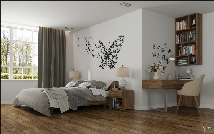 31 elegant wall designs to adorn your bedroom walls ritely. Black Bedroom Furniture Sets. Home Design Ideas