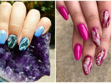 Geode and Quartz Nail Designs