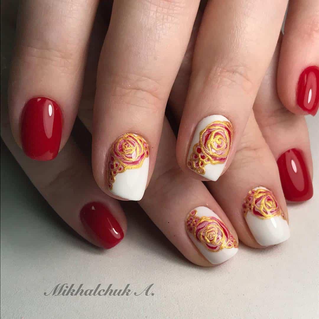 30 Fierce, Elegant Red Nail Designs