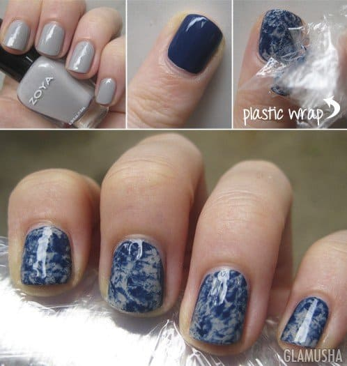 25 Mesmerizing Blue-White Nails For A Soft Look