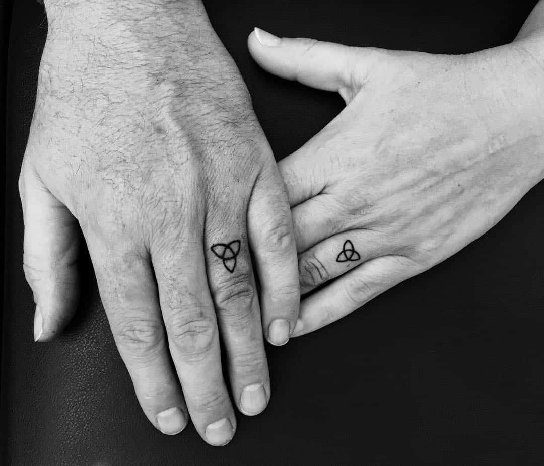 30 Touching And Sweet Wedding Ring Tattoos - Page 10 of 30 - Ritely
