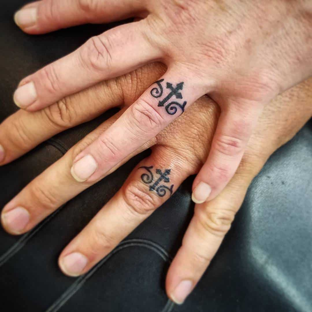 30 Touching And Sweet Wedding Ring Tattoos