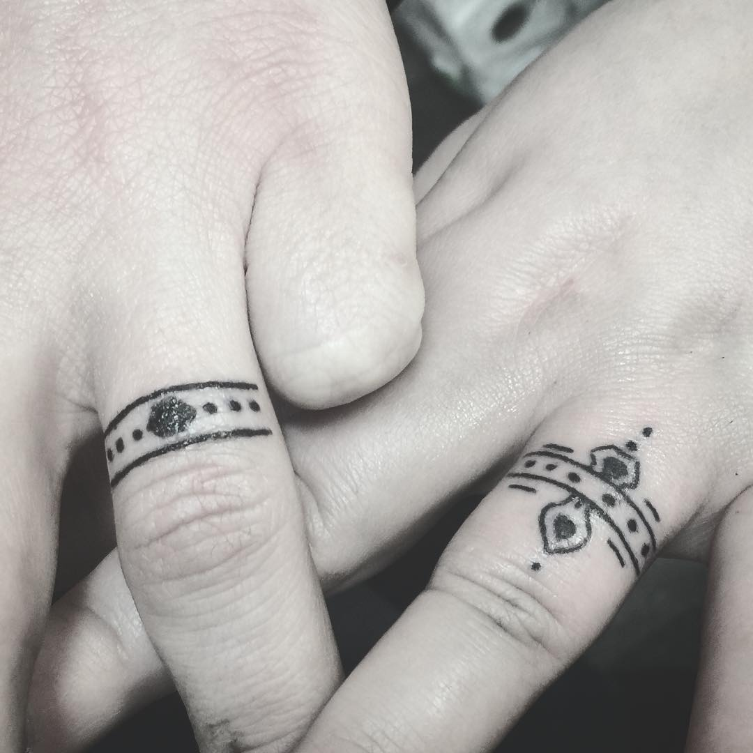30 Touching And Sweet Wedding Ring Tattoos - Page 5 of 30 - Ritely