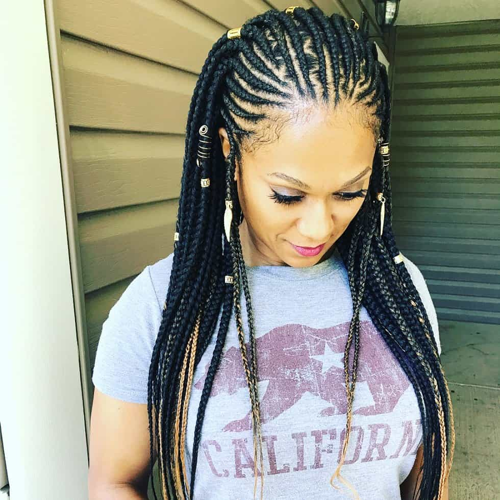 30 Box Braids Looking Absolutely Stunning - Cornrows Hairstyle
